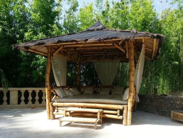 """Gazébo lit """"ORI Bed"""" en bambou - grand format"""