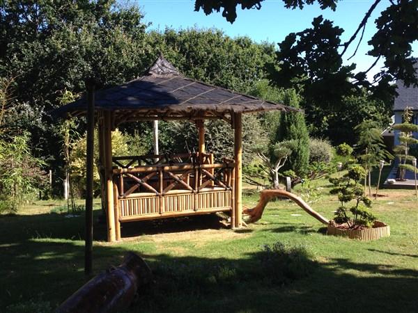 Paillote gazebo - Vente abris de jardin en bambou et ...