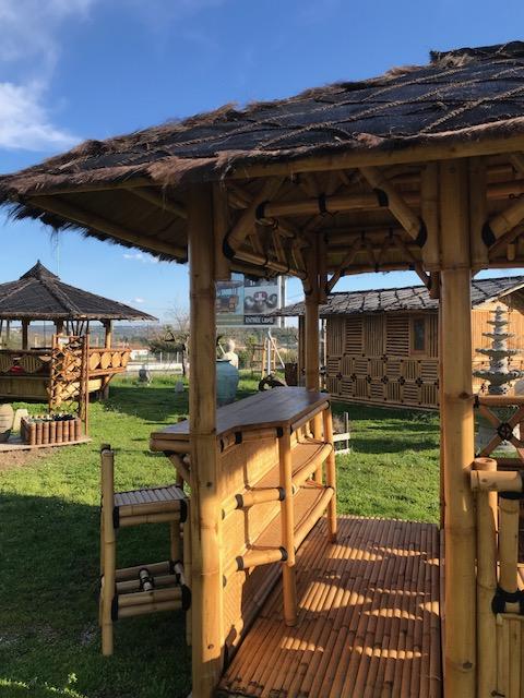 Vente abris de jardin en bambou et mobilier exotique - Gazébo BALI