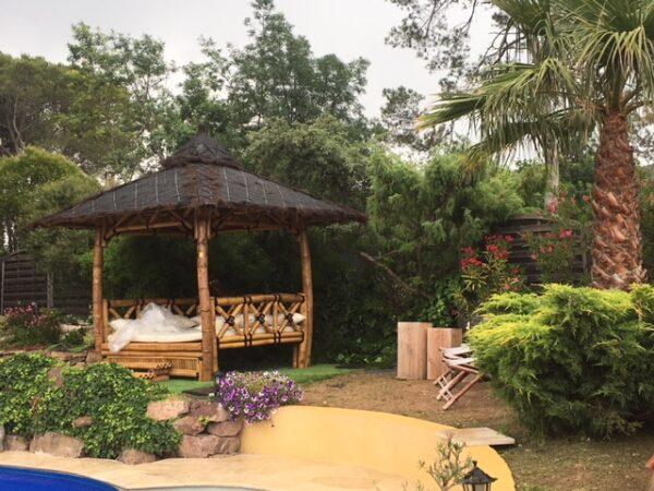 Abri bambou exotique