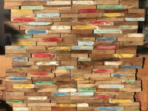 Panneaux décoration en teck recyclé