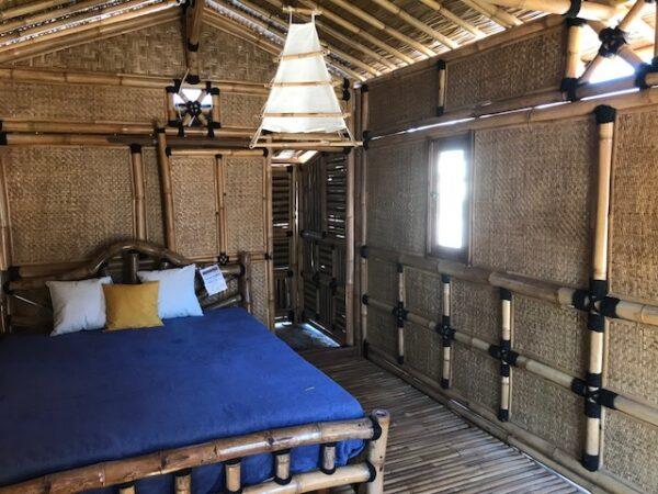 Intérieur de maison en bambou