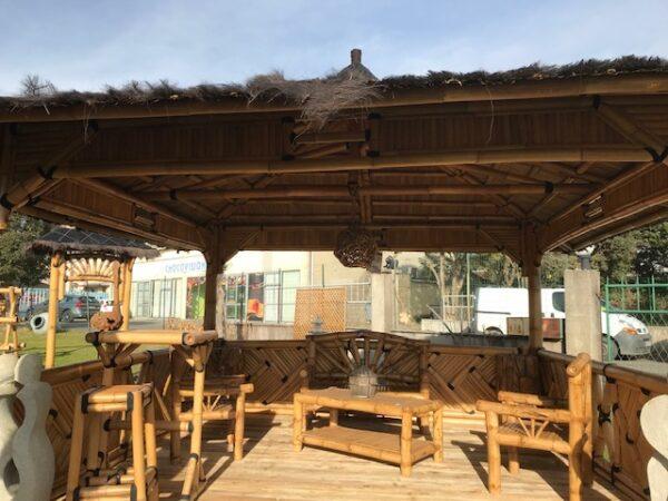 Grand abri bambou 4m x 4m