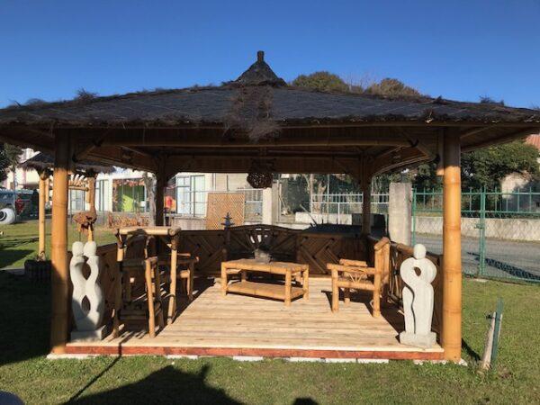 Grand abri bambou pour le jardin 4m x 4m