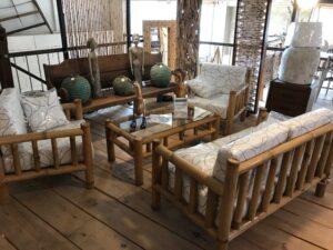 Salon en bambou