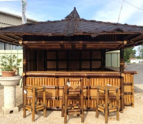 Gaz bo bar navarro en bambou for Mobilier bambou exterieur
