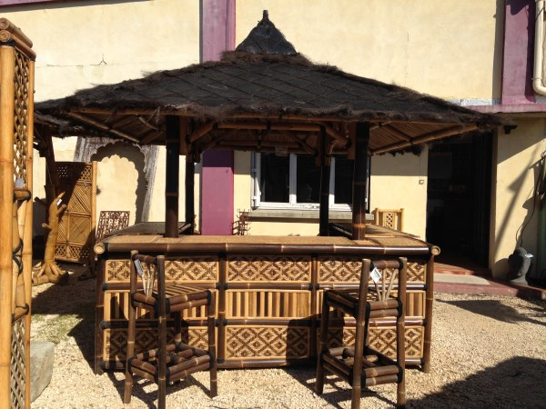 Bar ext rieur en bambou for Patio exterieur modele