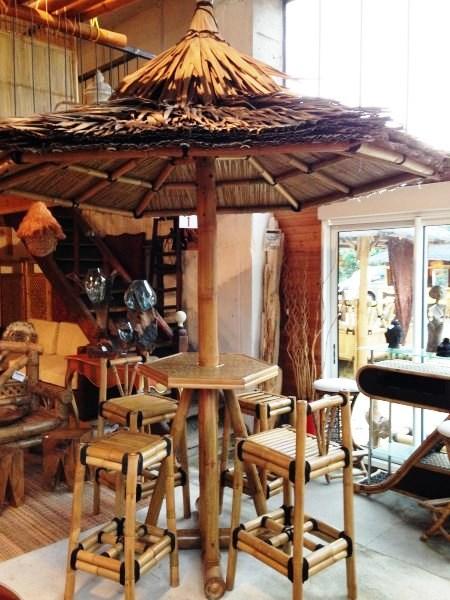 Parasol bambou - Vente abris de jardin en bambou et mobilier exotique