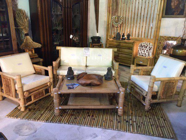 Salon en bambou - Vente abris de jardin en bambou et mobilier exotique