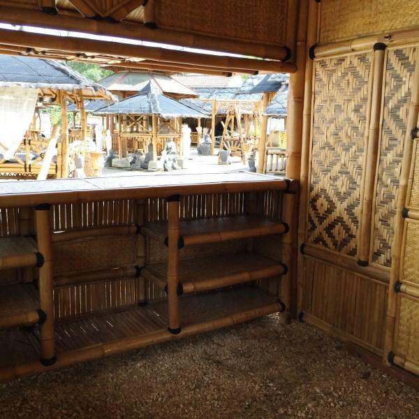 """Gazébo bar en bambou """"Navarro"""" - intérieur"""