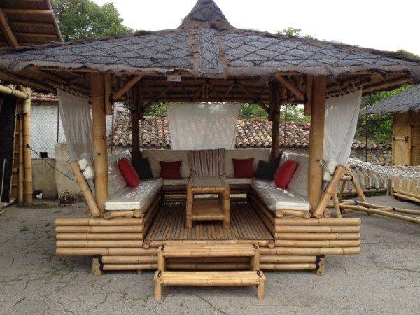 Gazébo bambou modèle LOUNGE