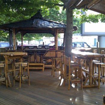 Aménagement bambou pour restaurant