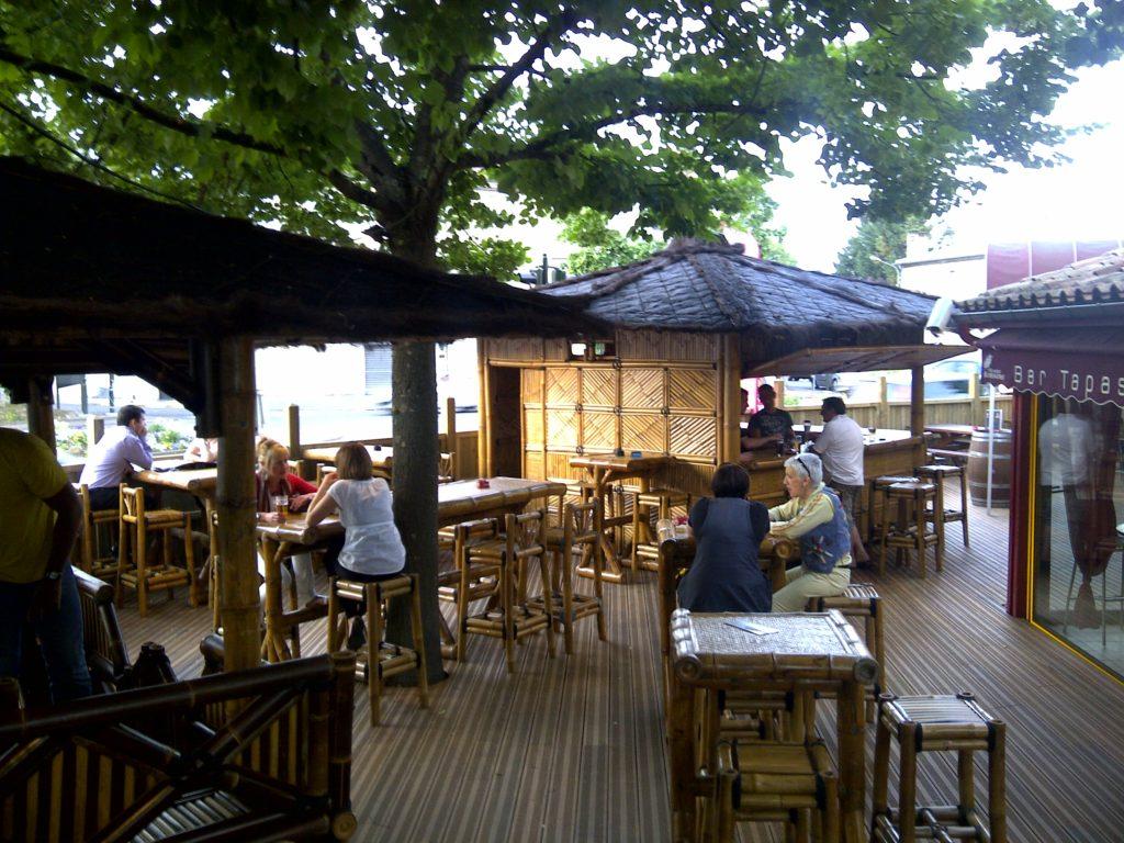 Aménagement d'une terrasse de restaurant