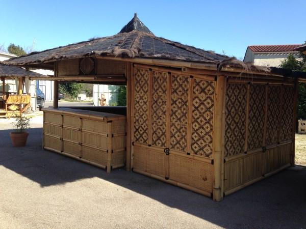 Gaz bo navarro avec extension vente abris de jardin en bambou et mobilier exotique - Abri de jardin avec extension ...