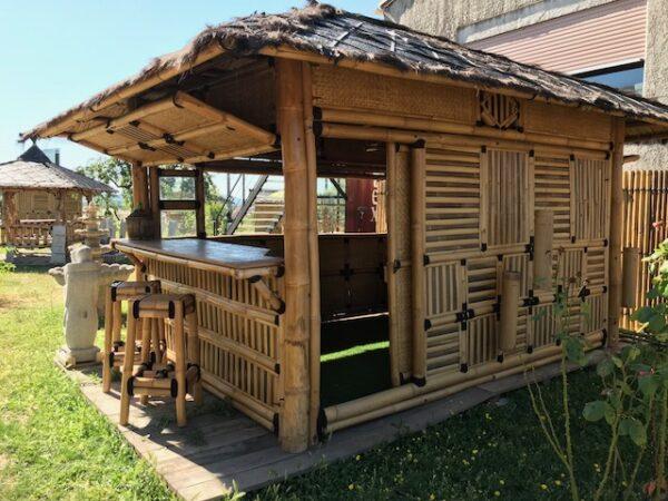 Abri bambou pour SPA avec bar intégré
