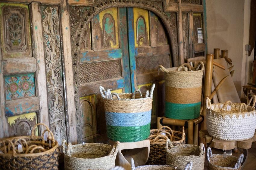 Paniers en osier - boutique