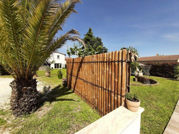 Panneaux en bambou décoration extérieure