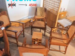 Promo mobilier exotique fauteuils