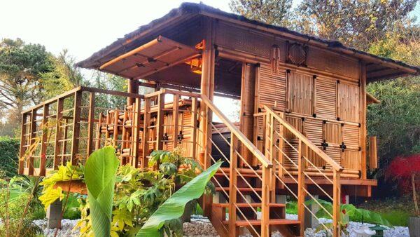 """Abri spa en bambou - Gîtes et chambres d'hôtes """"La Demeure de l'Arche"""""""